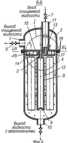 Мембранный модуль для очистки жидкости
