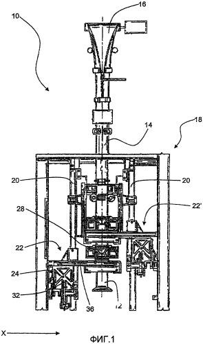 Формующее устройство, машина, упаковочное ламинатное полотно, способ и процесс формовки в производстве упаковочной тары