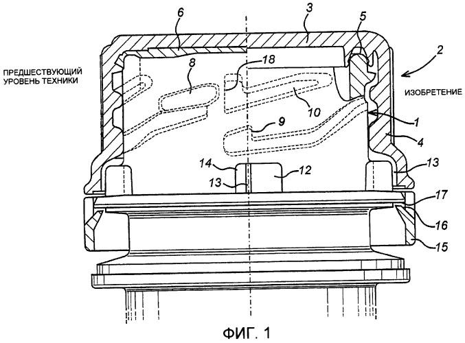 Зажимное уплотнение для узлов укупорочных средств контейнеров