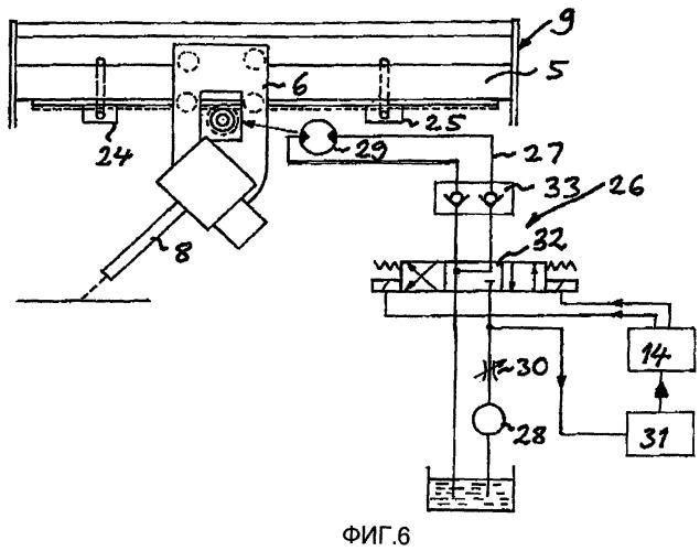 Устройство и способ перемещения элемента гидромонитора