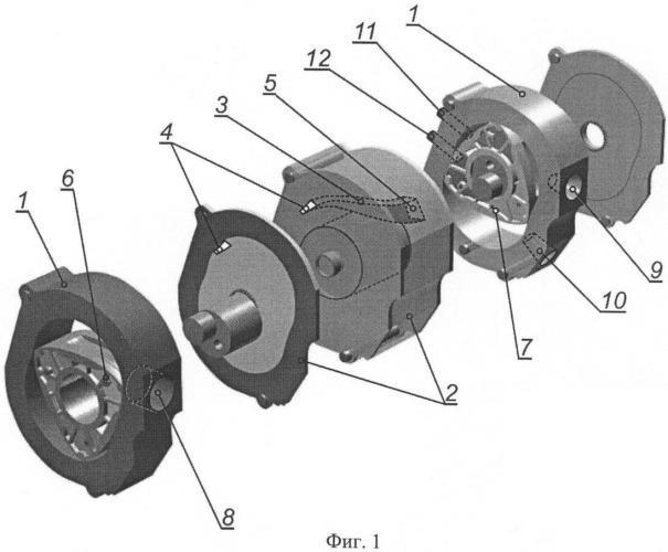 Дизельный роторный двигатель внутреннего сгорания