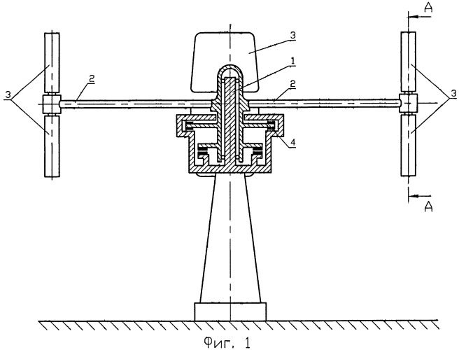 Ветроэнергетическая установка с механизмом ветрозащиты лопастей