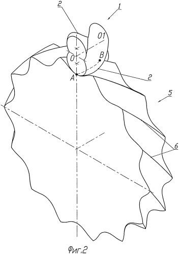 Эксцентриково-циклоидальное зацепление зубчатых профилей с криволинейными зубьями