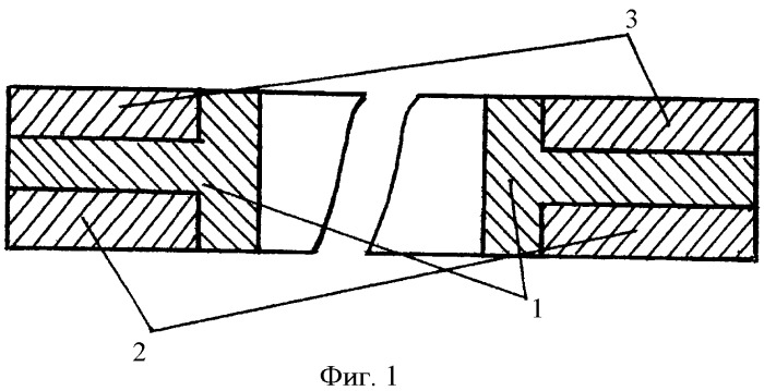 Тройное компрессионное кольцо с частично выровненной эпюрой напряжений и маслосгонной проточкой