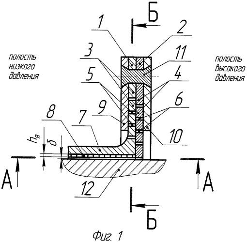Пальчиковое уплотнение с сотовой структурой