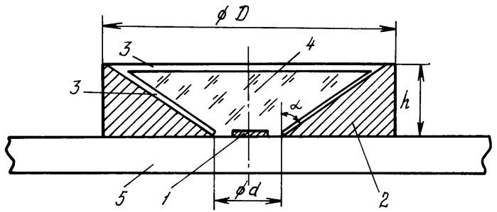 Конструкция светодиода с люминофором