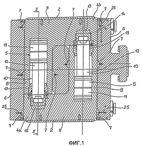 Гибочное устройство для двух рабочих валков прокатной клети