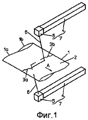 Способ изготовления отрезков полосы гибкого полосового материала, а также изготовления упаковочных емкостей