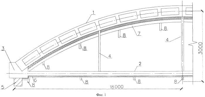Способ возведения армокаменной арки с затяжкой