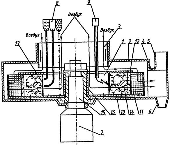 Способ организации горения топлива и центробежная камера сгорания