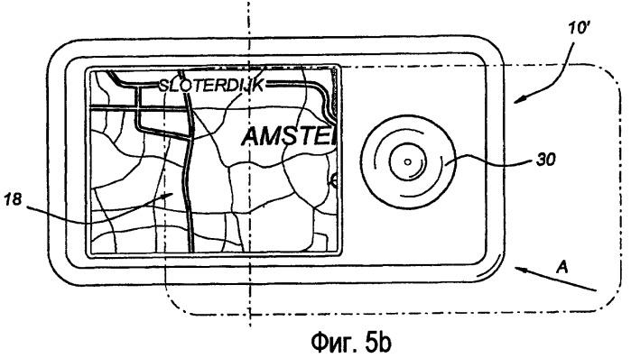 Навигационное устройство и способ прокрутки картографических данных, отображаемых в навигационном устройстве
