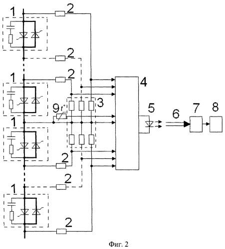 Устройство для контроля состояния ключей высоковольтного вентильного преобразователя