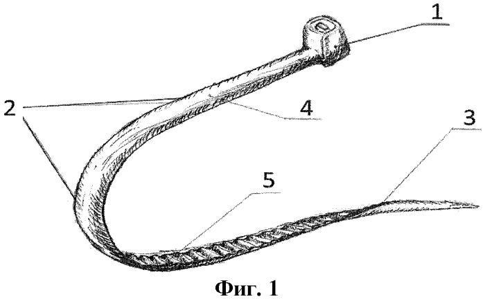 Устройство замковое лигатурное для сшивания кожного разреза и/или раны телесной ткани и безузловой способ сшивания кожного разреза и/или раны телесной ткани