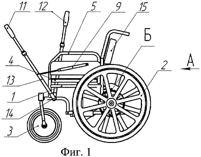 Инвалидное кресло с гидромеханическим приводом
