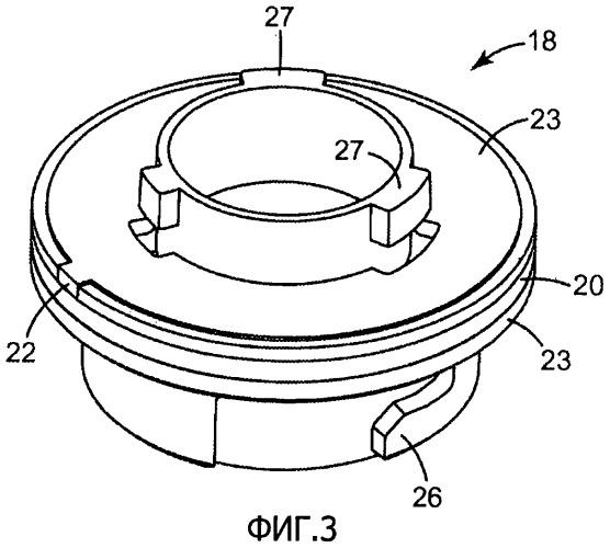 Прикрепляемый компонент респиратора с формованным термоотвержденным эластомерным уплотнением