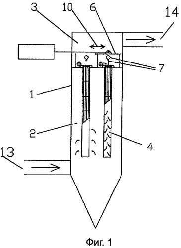 Способ и устройство для чистки фильтрационного материала газового фильтра