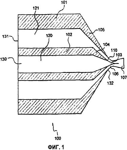 Спиральная форсунка смесителя и способ перемешивания двух или более текучих сред и способ получения изоцианатов