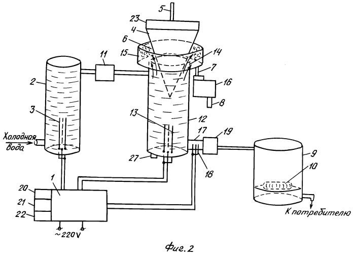 Способ электрохимической очистки питьевой воды и устройство для его реализации