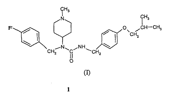 Синтез n-(4-фторбензил)-n-(1-метилпиперидин-4-ил)-n'-(4-(2-метилпропилокси)фенилметил)карбамида, а также его тартрата и кристаллических форм