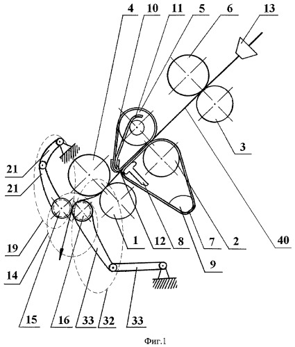 Вытяжной прибор прядильной машины