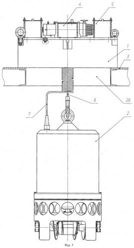 Устройство для механической очистки дна бассейна выдержки, заполненного водой и кассетами с отвс