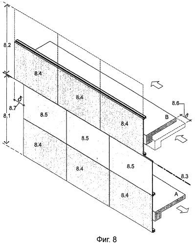 Сейсмостойкие навесные стены с остекленными панелями