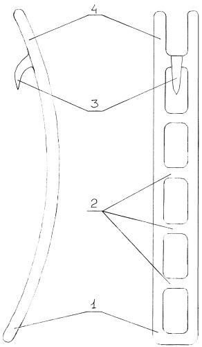 Съемная скоба, предназначенная для закрытия вручную разгрузочных люков железнодорожных полувагонов