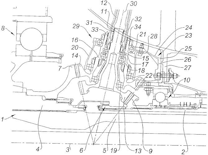 Двухкаскадный газотурбинный двигатель с устройством отбора мощности на роторах низкого давления и высокого давления, блок отбора мощности для газотурбинного двигателя и способ сборки газотурбинного двигателя