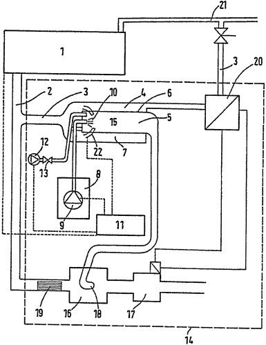 Двигатель внутреннего сгорания с системой выпуска отработавших газов, в которую с помощью дозировочного блока дозированно вводится добавка
