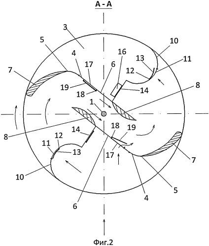 Роторный ветродвигатель