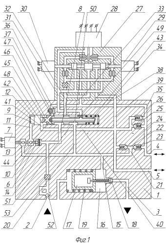 Четырехлинейный трехпозиционный гидрораспределитель с резервированным электроуправлением