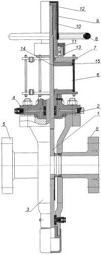 Схема задвижки с ручным приводом