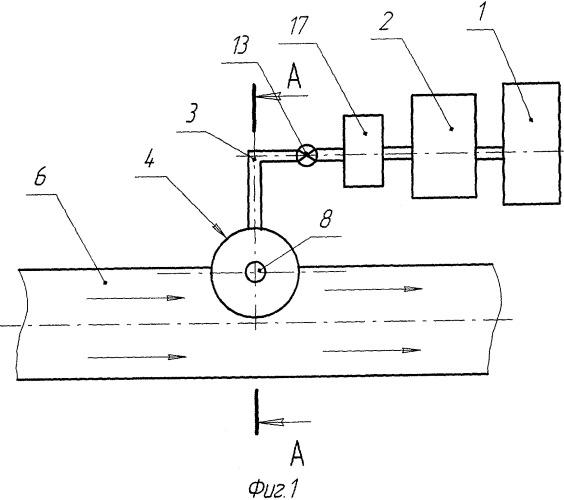 Устройство ввода химического реагента в текущий поток в трубопроводе