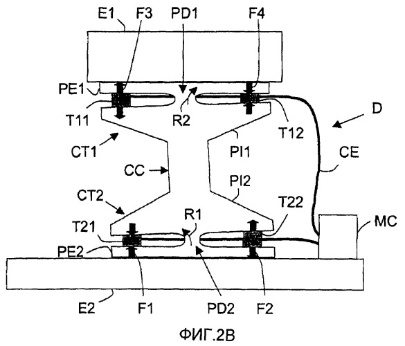 Устройство крепления первого прибора на втором приборе с активным микропозиционированием