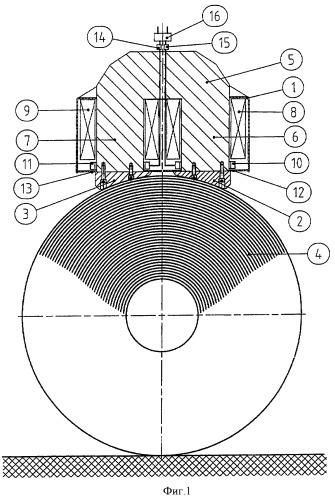 Электромагнитное подъемное устройство для транспортировки рулонов горячекатаной стали и способ управления им