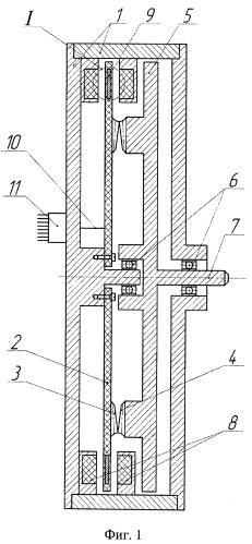 Торцевой волновой электродвигатель