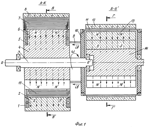 Магнитоэлектрическая машина со специальным возбудителем