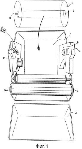 Одноразовая концевая деталь для рулона вытирающего материала и устройство для выдачи вытирающего материала с использованием такой концевой детали