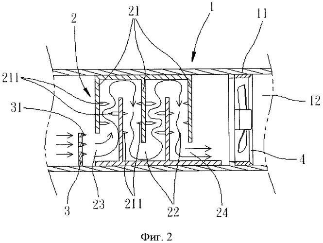 Высокоэффективное устройство лабиринтного типа для очистки воздуха
