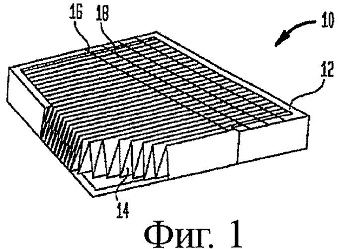Воздухоочиститель с поляризуемым под действием электрического поля материалом с электропроводными утолщениями