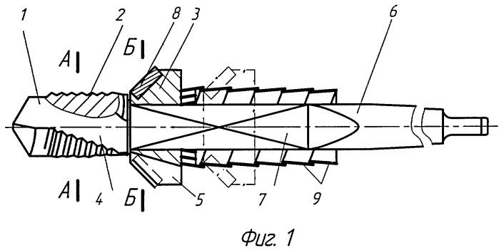 Комбинированный осевой инструмент