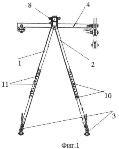 Устройство для одновременного подъема контактных проводов на воздушных стрелках