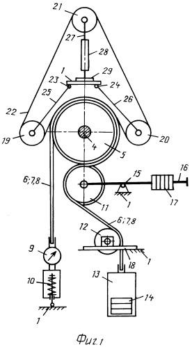 Стенд для исследования параметров привода двухконтурного ленточно-канатного конвейера
