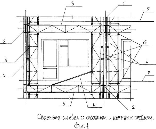 Связевый каркас здания