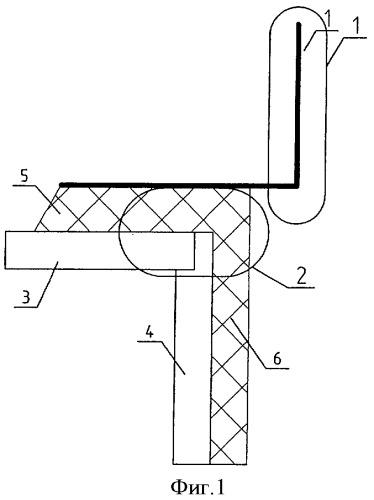 Устройство сборного железобетонного парапета консольного типа многоэтажного бесчердачного здания с непрерывным сочленением под консольной частью парапета слоев утеплителя стены и покрытия