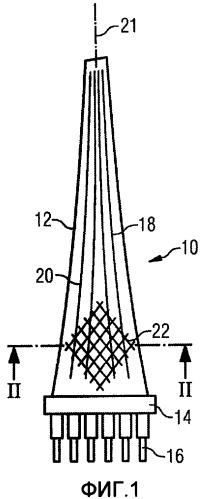 Турбинная лопатка для паровой турбины и паровая турбина с такой лопаткой