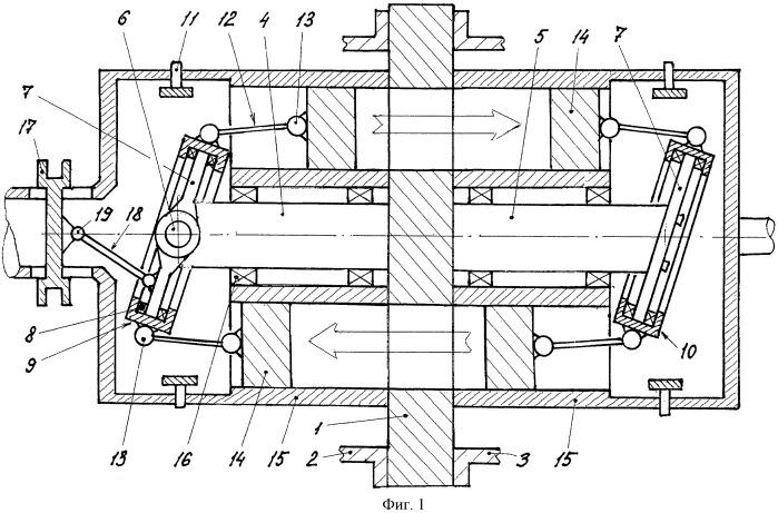 Гидравлический вариатор (варианты)