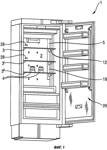 Кухонный прибор с хранилищем, регулируемым по высоте