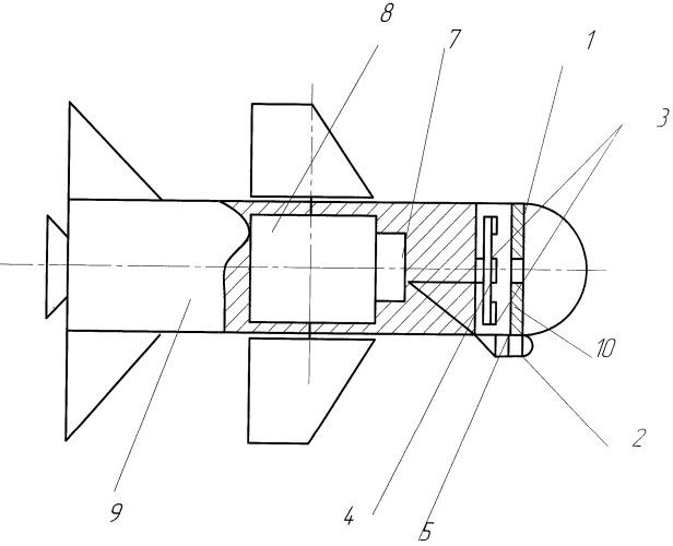 Тепловая головка самонаведения ракеты, нечувствительная к генераторам инфракрасных пульсирующих помех