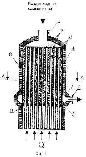 Конвектор для осуществления газофазных каталитических процессов и тепловой элемент конвектора газофазных каталитических процессов